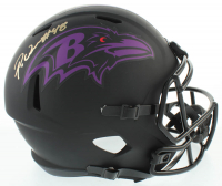 Patrick Queen Signed Ravens Full-Size Eclipse Alternate Speed Helmet (Beckett COA) at PristineAuction.com
