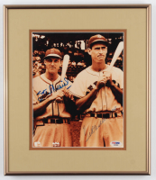 Ted Williams & Stan Musial Signed 12.5x14.5 Custom Framed Photo Display (PSA LOA) at PristineAuction.com