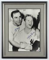 Yogi Berra & Whitey Ford Signed 14.5x18 Custom Framed Photo Display (PSA COA) at PristineAuction.com