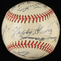Baseball Signed by (10) with Joe DiMaggio, Lefty Grove, Dizzy Dean, Luke Appling, Bill Dickey (JSA ALOA) at PristineAuction.com
