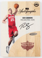 Ben Simmons Signed Game-Used 2016-17 Upper Deck Supreme Hard Court NBA Autographs #ABS (UDA COA) (See Description) at PristineAuction.com