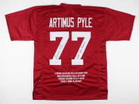 """Artimus Pyle Signed Career Highlight Stat Jersey Inscribed """"Sweet Home Alabama"""" (PSA COA) at PristineAuction.com"""