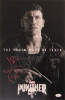 """Jon Bernthal Signed """"The Punisher"""" 11x17 Photo with Hand-Drawn Sketch (JSA COA) at PristineAuction.com"""