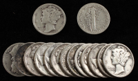 Lot of (15) Mercury Silver Dimes at PristineAuction.com