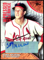 Stan Musial Signed 2016 Topps Pressed Into Service #PIS6 (Musial COA) at PristineAuction.com