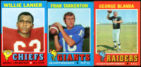 Lot of (3) 1971 Topps Baseball Cards with Willie Lanier #114 RC, Fran Tarkenton #120 & George Blanda #39 at PristineAuction.com