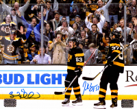 Brad Marchand & Patrice Bergeron Signed Bruins 8x10 Photo (Marchand COA & Bergeron COA) at PristineAuction.com