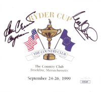 "Ben Crenshaw & Mark James Signed 1999 Ryder Cup Score Card Inscribed ""Captain"" (JSA COA) at PristineAuction.com"