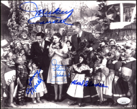 """""""Wizard Of Oz"""" 8x10 Photo Cast-Signed by (4) with Mickey Carroll, Jerry Maren, Donna Stewart-Hardway & Karl Slover (JSA COA) at PristineAuction.com"""