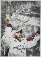 Alexander Ovechkin 12x17 Limited Edition Metal Art Print at PristineAuction.com
