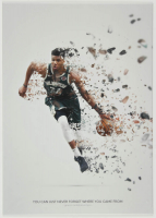 Giannis Antetokounmpo 12x17 Limited Edition Metal Art Print at PristineAuction.com