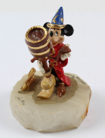 "LE ""Sorcerer Mickey Mouse"" Disney 6"" Painted Pewter Figure on Quartz Base at PristineAuction.com"