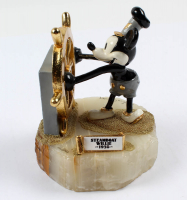 "LE ""Steamboat Willie 1928"" Disney 5.5"" Painted Pewter Figure on Quartz Base at PristineAuction.com"