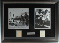 Joe DiMaggio & Lou Gehrig Signed Yankees 19.5x26.5 Custom Framed Cut Display (JSA ALOA) at PristineAuction.com