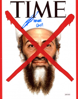 """Robert O'Neill Signed Time Magazine Cover 8x10 Photo Inscribed """"Never Quit!"""" (JSA COA) at PristineAuction.com"""