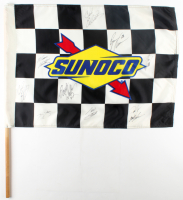 NASCAR Sunoco Racing Fuels Checkered Flag Signed by (9) with Ryan Newman, Carl Edwards, Tony Stewart, Jimmie Johnson (JSA ALOA) at PristineAuction.com