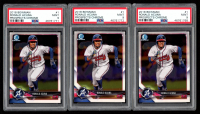 Lot of (3) Ronald Acuna 2018 Bowman Chrome Prospects #BCP1 (PSA 9) at PristineAuction.com