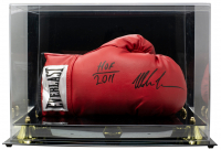 "Mike Tyson Signed Everlast Boxing Glove Inscribed ""HOF 2011"" With Display Case (Tristar Hologram) at PristineAuction.com"