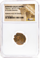 Tetricus I - Roman Bronze Coin AD 271-274 (NGC Encapsulated) at PristineAuction.com