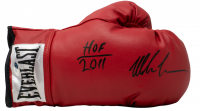 "Mike Tyson Signed Everlast Boxing Glove Inscribed ""HOF 2011"" (Tristar Hologram) at PristineAuction.com"