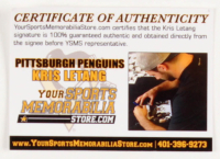 """Kris Letang Signed Penguins 16x20 Photo Inscribed """"Tanger"""" (YSMS COA) at PristineAuction.com"""