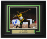 Usain Bolt Signed Team Jamaica 11x14 Custom Framed Photo Display (JSA COA) at PristineAuction.com