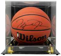 Michael Jordan Signed Basketball WIth DIsplay Case (UDA Hologram) at PristineAuction.com