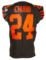 Nick Chubb Game-Used Browns Nike Jersey (Fanatics Hologram) at PristineAuction.com