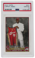 LeBron James 2003-04 Topps #221 RC (PSA 10) at PristineAuction.com
