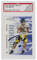 Tom Brady Signed 2000 Impact #27 RC (PSA 9) at PristineAuction.com
