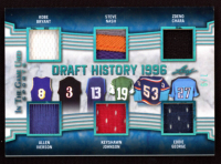 2019 ITG Used Sports Draft History Memorabilia Platinum Blue Spectrum #DH109 Kobe Bryant / Allen Iverson / Steve Nash / Keyshawn Johnson / Zdeno Chara / Eddie George at PristineAuction.com