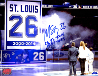 """Martin St. Louis Signed LE Lightning 8x10 Photo Inscribed """"26 To The Rafters"""" (YSMS Hologram) at PristineAuction.com"""
