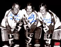 """Gordie Howe, Marty Howe, & Mark Howe Signed Aeros 8x10 Photo Inscribed """"Mr Hockey"""" (YSMS COA) at PristineAuction.com"""