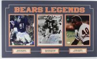 Dick Butkus, Walter Payton & Gale Sayers Signed Bears 18x30 Custom Matted Photo Display With (2) Inscriptions (Payton COA, Beckett LOA, JSA COA & Schwartz COA) at PristineAuction.com