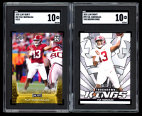 Lot of (2) SGC Graded 10 Tua Tagovailoa Football Cards with 2020 Leaf Draft #2 & 2020 Leaf Draft #90 Touchdown Kings at PristineAuction.com