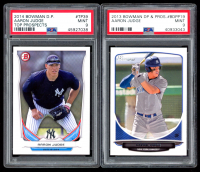 Lot of (2) Aaron Judge Graded Rookie Cards with 2013 Bowman Draft Draft Picks #BDPP19 RC (PSA 9) & 2014 Bowman Draft Top Prospects #TP39 RC (PSA 9) at PristineAuction.com