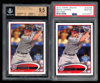 Lot of (2) Bryce Harper 2012 Topps Update #US299A (BGS 9.5 & PSA 10) at PristineAuction.com