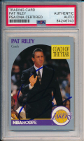 Pat Riley Signed 1991-92 NBA Hoops #317 (PSA Encapsulated) at PristineAuction.com