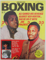 Joe Frazier Signed 1974 Boxing Guide (PSA COA) at PristineAuction.com