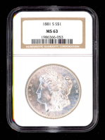 1881-S $1 Morgan Silver Dollar (NGC MS63) at PristineAuction.com