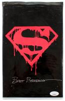 "Brett Breeding Signed 1992 ""Superman"" Issue #75 DC Comic Book Black Bag Collector's Set (JSA COA) at PristineAuction.com"