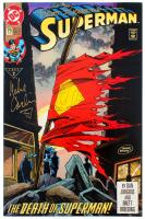 "Brett Breeding & Mike Carlin Signed 1992 ""Superman"" Issue #75 DC Comic Book (JSA COA) at PristineAuction.com"