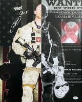 "U.S. Navy Seal Robert O'Neill Signed Osama Bin Laden 16x20 Photo Inscribed ""Never Quit!"" (PSA COA) at PristineAuction.com"