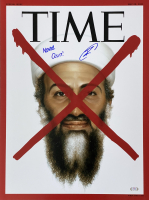"U.S. Navy Seal Robert O'Neill Signed Osama Bin Laden 18x24 TIME Magazine Cover Inscribed ""Never Quit!"" (PSA COA) at PristineAuction.com"