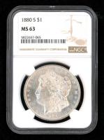 1880-S $1 Morgan Silver Dollar (NGC MS63) at PristineAuction.com
