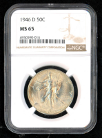 1946 Walking Liberty Silver Half Dollar (NGC MS65) at PristineAuction.com