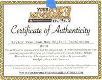 Taylor Twellman Signed New England Revolution 8x10 Photo (YSMS COA) at PristineAuction.com