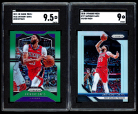 Lot of (2) SGC Graded Anthony Davis Baseketball Cards with 2018-19 Panini Prizm #177 (SGC 9) & 2019-20 Panini Prizm #222 (SGC 9.5) at PristineAuction.com