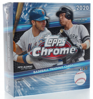 2020 Topps Chrome Baseball Mega Box with (10) Packs at PristineAuction.com