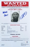 "U.S. Navy Seal Robert O'Neill Signed Osama Bin Laden FBI Wanted Document 8.5x13 Print Inscribed ""Never Quit!"" (PSA COA) at PristineAuction.com"